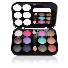 12 Colors Makeup Cosmetic Eyeshadow Eye Shadow Powder Pallete Set Kit... ($3.99) ❤ liked on Polyvore