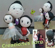 "Foto personalizada en pasta francesa. Customized photo in polymer clay. Follow us like ""Creaciones Loro"""