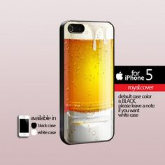 Glass Drink Beer   - Print Hard Cover For iPhone 5