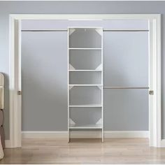 Bring harmony to your master suite or walk-in closet with this essential SuiteSymphony W - W Closet System, featuring a storage tower and 3 rods Closet Rod, Closet Shelves, Closet Storage, Closet Organization, Diy Walk In Closet, Basement Closet, Diy Custom Closet, Basement Ideas, Foyers