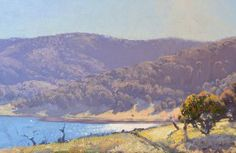 Lake Light. Anglers Reach 30x60cm Warwick Fuller