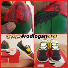 brand new dc029 3aa42 Rastafarian Nike Cortez