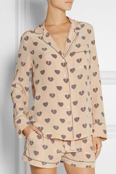 Equipment - Signature printed washed-silk pajama set 0b7a4f7bc