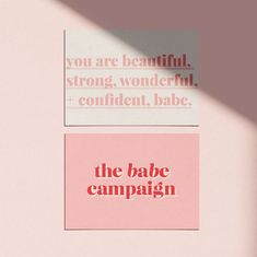The Babe Campaign branding design logo design brand identity graphic fun girl boss pink and red bold energy layered clean modern babes unite females feminine entrepreneur. Logo And Identity, Logo Branding, Brand Identity Design, Brand Design, 1 Logo, Game Logo, Visual Identity, Web Design, Website Design