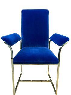 Milo Baughman Brass Chair
