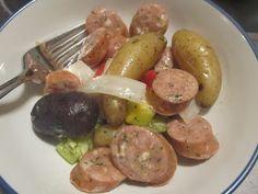 Keeza's Freezer Meals: Chicken Sausage and Potatoes