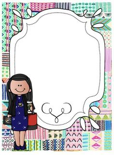 School Binder Covers, Teacher Binder Covers, Borders For Paper, Borders And Frames, Boarder Designs, School Frame, Easy Coloring Pages, Literacy Games, Free Teaching Resources
