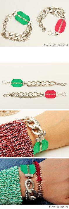 Zip detail bracelet - accessories Style by Marina