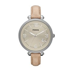 FOSSIL® : Heather Leather Watch - Sand ES3141