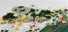 Jackie-Kim-Korean-Folk-Art-Min-Hwa-02.jpg (640×301)