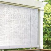 """1/4"""" Oval Vinyl PVC Roll-Up Blinds in White.  $43.35 for one 72"""" w x 96"""" h shade...perfect for a storm door!"""