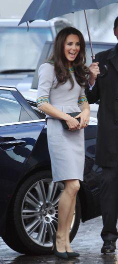 Kate the Duchess of Cambridge in Matthew Williamson