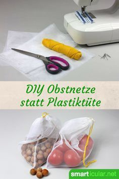 Was haben Umweltschutz und das Upcycling von Stoffresten gemeinsam? Finde die An… What do environmental protection and the upcycling of fabric remnants have in common? Find the answer in this ingenious manual for self-sewn fruit and vegetable bags! Sewing Hacks, Sewing Projects, Sewing Tutorials, Diy Projects, Sewing Patterns, Sewing Tips, Sewing Stitches, Crafts To Sell, Diy And Crafts