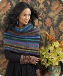Love this knitted Noro Welted Cowl ---free PDF of pattern