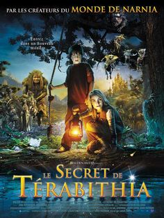Le Secret de Terabithia est un film de Gabor Csupo avec Josh Hutcherson, AnnaSophia Robb. Synopsis : Jess, un garçon issu d'une modeste famille nombreuse et Leslie, fille unique d'un couple d'écrivains, s'inventent un monde imaginaire, Térabithia, pou