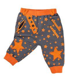 Vicious Wear Gray & Orange Grisu Pants - Infant, Toddler & Boys or Girls Unisex // Punk Rock for Tiny Humans