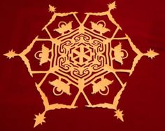 Patterns and instructions to make 10 paper snowflakes, including Angels, Shepherds, Three Kings, and Nativity patterns. The patterns call for 18 inch square paper and finish at about 16 or 17 inches round