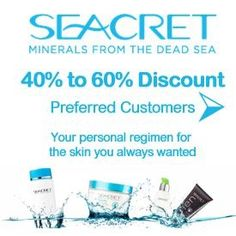 Save up to 60% today by shopping as a VIP preferred customer here today. Receive your own website to shop from at your leisure. Receive these savings across the board 24/7 http://www.seacretdirect.com/BeyondCosmetics/en/au