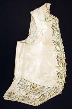 1775, France - Silk waistcoat