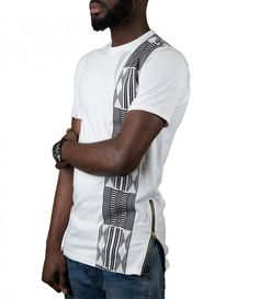 Kente Stripe King T-Shirt African Clothing For Men, African Shirts, African Print Fashion, Africa Fashion, Tribal Fashion, African Fashion Dresses, African Clothes, Casual T Shirts, Tee Shirts