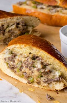 Steak and cheese stuffed French bread recipe