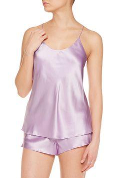 Olivia von HalleBella silk-satin pajama set