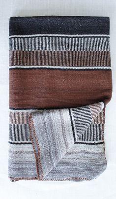 Vintage Andean Baby Alpaca Blanket/Rug #14