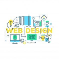 Web design work process | Free Vector #Freepik #freevector #design #laptop #web #pen Page Template, Website Template, Templates, Modern Web Design, Illustration Story, One Page Website, Seo Services, Vector Design, Digital Marketing