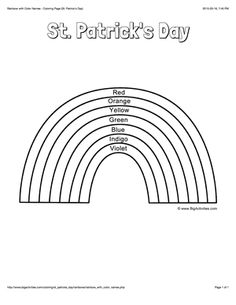 1000 images about st patrick 39 s day on pinterest st for St patrick s day rainbow coloring pages