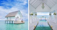 Of the five types of magic, one is certainly water, making this resort in the Maldives absolutely magical. The luxurious Four Seasons' Landaa Giraavaru resort in the Maldives offers a pavilion raised on stilts that can only be reached by boat. Located off the tip of the island, the 485-square-foot(45m2) structure can seat 16 people, and features a glass aisle above a turtle enclosure.