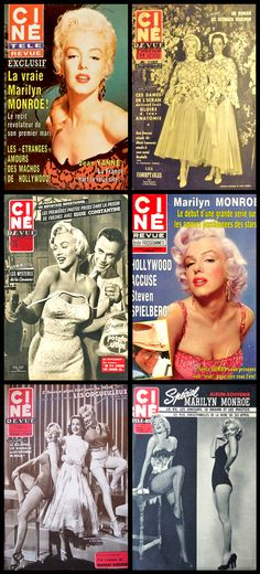 Ciné Revue (French) magazine covers of Marilyn Monroe .... #marilynmonroe #normajeane #vintagemagazine #pinup #iconic #raremagazine #magazinecover #hollywoodactress