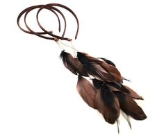 FEATHER HEADBAND WITH DROP FEATHER