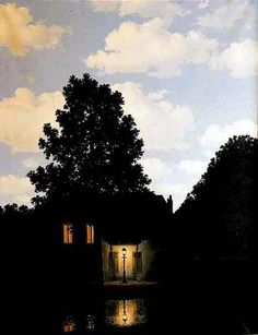 L'Empire des Lumieres, 1954 ~ Rene MagritteMore Pins Like This At FOSTERGINGER @ Pinterest