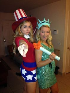 The Caitlin Diaries: DIY Halloween Costume Ideas Uncle Sam and Statue of Liberty
