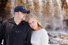 Waterfall Engagement Photo by Sawyer Creek Photography