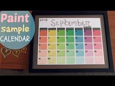 Paint Sample Calendars   Craftiness     Paint Sample