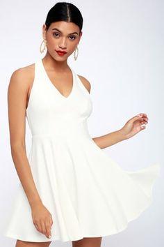 747d3f8326 Lawson White Skater Dress Cute White Dress