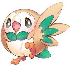 pokemon sun and moon starters - OMG rowlet is so cute