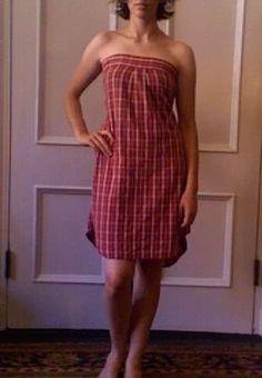 Dress from a Button-Down Shirt