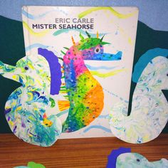 Toddlers version of an Eric Carle inspired sea horse...love them!