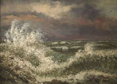 Realist painter Gustave Courbet portrays the wet and windy sea in a salute to nature's power Kunsthistorisches Museum, Museum Studies, Art Français, Gustave Courbet, French Paintings, Oil Paintings, Legion Of Honour, Museum Of Fine Arts, French Art