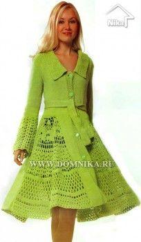 Lady crochet coat  dress