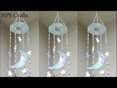 Diy wall decor 241927811220206821 - How to make🌜&🌟wall Hanger with waste CD Cd Diy, Old Cd Crafts, Diy Home Crafts, Crafts With Cds, Clay Crafts, Recycled Cds, Recycled Crafts, Diy With Kids, Diy Room Decor