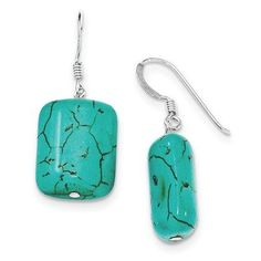 Look what we have in stock !!! STERLING SILVER D... visit http://100percenthood.biz/products/sterling-silver-dyed-howlite-earrings?utm_campaign=social_autopilot&utm_source=pin&utm_medium=pin