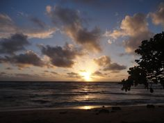 It's Day 3 on Kauai. We haven't found any trouble in paradise yet, but did see that magnificent sunrise off the East Shore. This one was taken on the beach at our condo at Kauai Beach Villas.