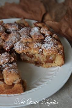 OMG this looks delicious! I'm so making it with cherries! Easy Pear Cake by Not Quite Nigella X