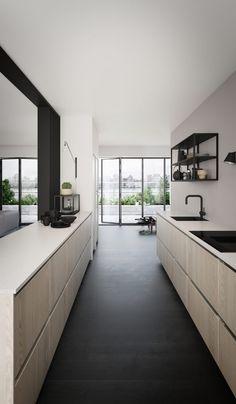 Huis Design : Invite Nature Into Your Kitchen Nordic News Kvik Tinta Black Kitchens, Home Kitchens, Nordic Design, Kitchen Sink, Interior Design Living Room, Kitchen Remodel, Furniture, Home Decor, Black Kitchen Sinks