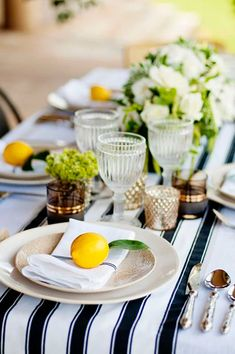 You know the saying: When life deals you lemons, use them for an adorable decorative accents. (That's my version, at least.) And the styling power-team of Angie Silvy Photography , and Myee Events,. Fruit Wedding, Mod Wedding, Wedding Ideas, Elegant Wedding, Wedding Blog, Wedding Reception, Wedding Stuff, Wedding Venues, Wedding Photos