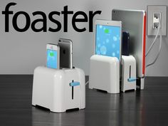 a toaster for your phones. (and tablets! iPhone 6 Plus / 6 / 5 / Android, iPad. Charge up to four phones and tablets at once. Cool Cases, Cute Phone Cases, Iphone 6 Cases, Iphone 6 Plus Case, Phone Gadgets, Gadgets And Gizmos, Technology Gadgets, Ipod, Ipad Accessories