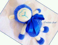 El edén de las mamalidades. Corderito azul. Amigurumi.